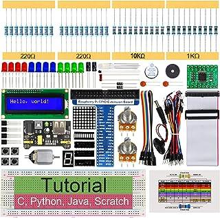 Freenove Super Starter Kit for Raspberry Pi 4 B 3 B+ 400, 411-Page Detailed Tutorials, Python C Java Scratch Code, 164 Ite...