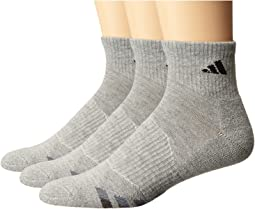 Cushion 3-Pack Quarter Socks