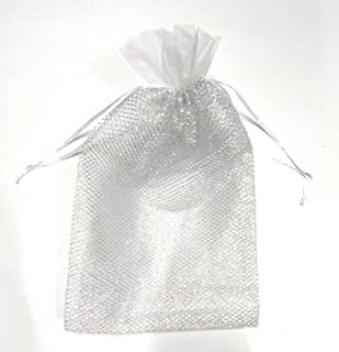Arham Mktg Potli Bags Pouches for Return Gifts & Jewellery Pouch (Set of 20 Pieces) (Silver)