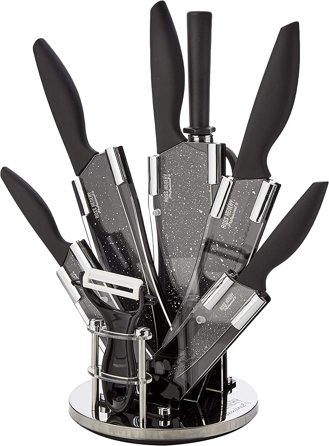 Ross Max 63% OFF Minneapolis Mall Henery Professional Knives 8 Piece knife in st kitchen set