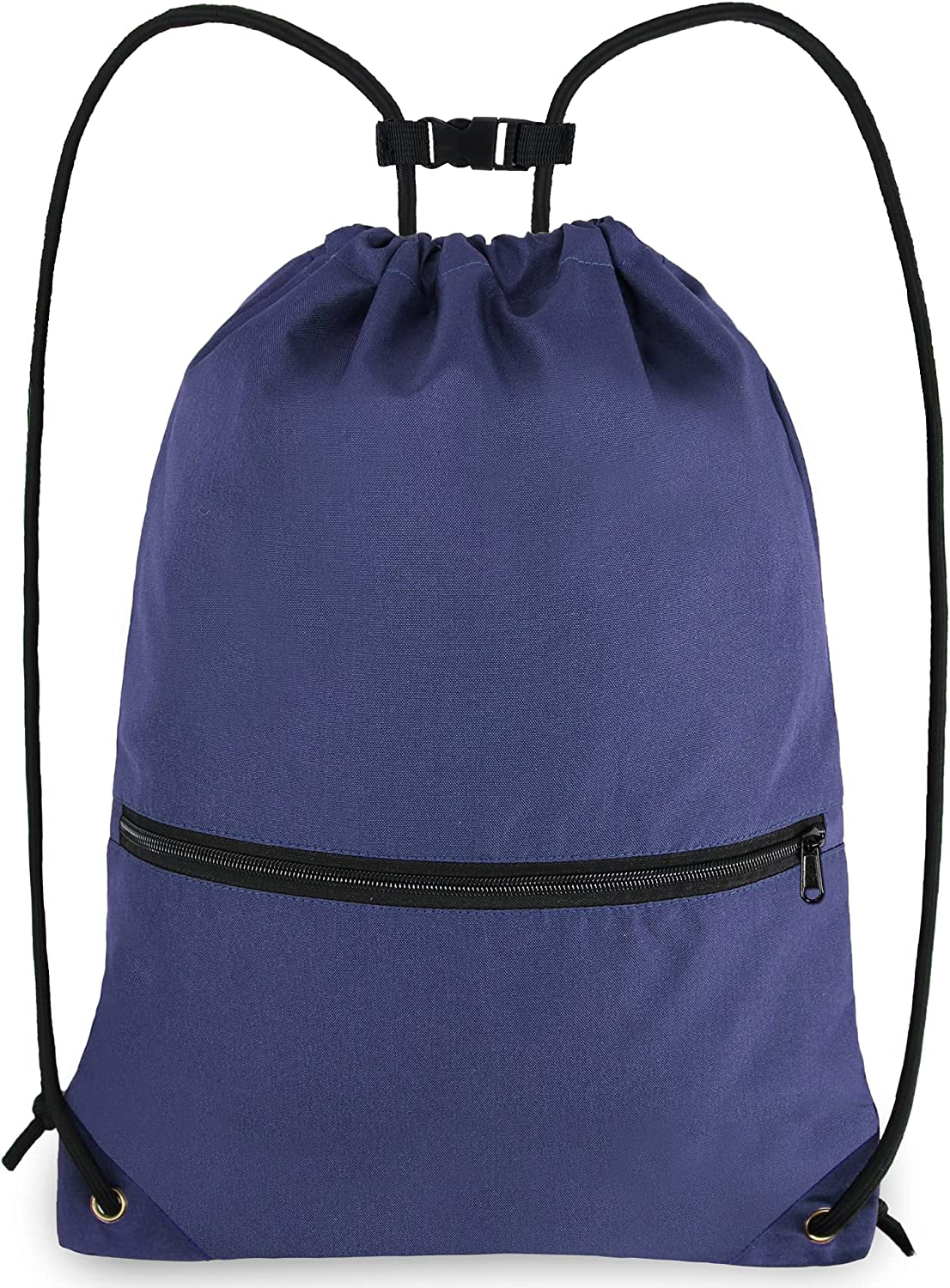 BeeGreen Drawstring Backpack Gym Sports Zipper Front with Po Bag Superlatite Deluxe