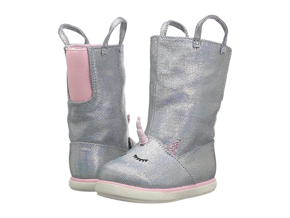 Baby Deer First Steps Unicorn Boot (Infant/Toddler) (Silver) Girls Shoes