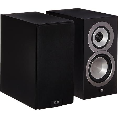 Elac Uni-FI UB5 Slim Bookshelf Speaker (Finished Satin Black Cabinet, Pair)