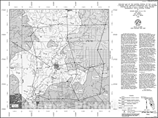 Historic Pictoric Map : Surficial and Bedrock Geology of The Eastern Portion of The U.S.G.S. 1:100,000 Scale Sarasota Quadrangle and The Western Portion o, 1998 Cartography Wall Art : 30in x 24in