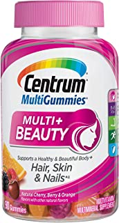 Centrum Multi + Beauty Gummy Multivitamin For Women, Hair Skin and Nails Vitamins with Antioxidants and Vitamins D3 and B ...
