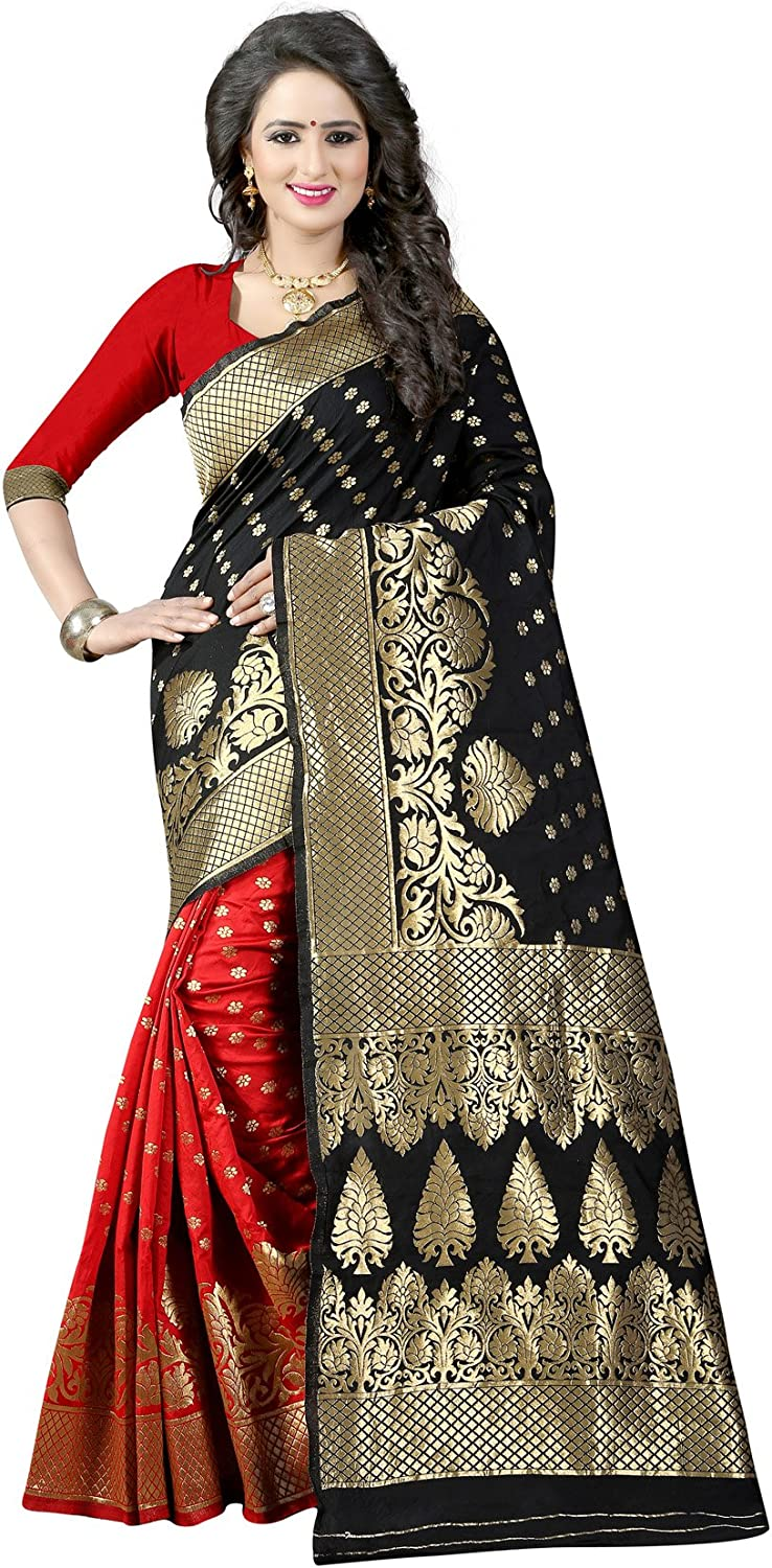 Dealsure Cotton Silk Saree(DSS831401_Multi_Free Size)