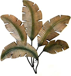 metal palm leaves wall decor