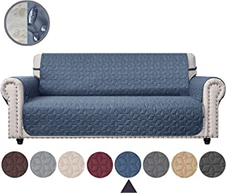 Ameritex Couch Sofa Slipcover 100% Waterproof Nonslip Quilted Furniture Protector Slipcover for Dogs, Children, Pets Sofa Slipcover Machine Washable (Blue, 68'')