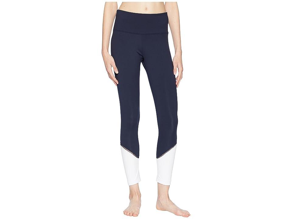 Kate Spade New York Athleisure Color Block Leggings (Rich Navy Multi) Women