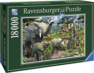 Ravensburger - David Penfound -  at The Waterhole - 18000 Piece Jigsaw Puzzle for Adults – Softclick Technology Means Pieces Fit Together Perfectly