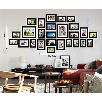Art street Galaxy Set of 26 Individual Black Wall Photo Frame - Mix Size (8X10-2, 6X8-5, 5X7-8, 4X6-11)