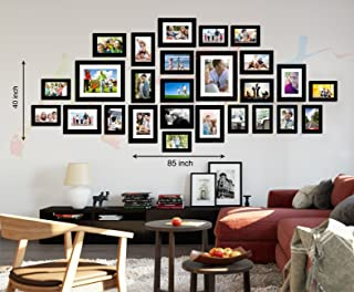 Art street Galaxy Set of 26 Individual Black Wall Photo Frame - Mix Size (8X10-2, 6X8-5, 5X7-8, 4X6-11)