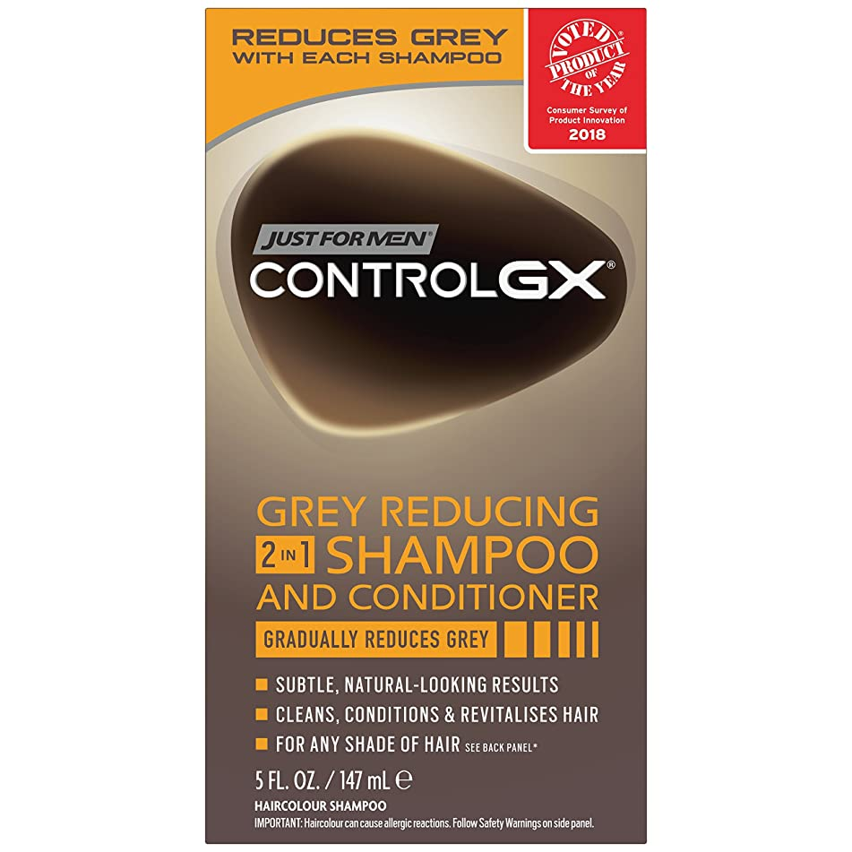 Just For Men Control GX 2 in 1 Shampoo and Conditioner, 5 Fluid Ounce