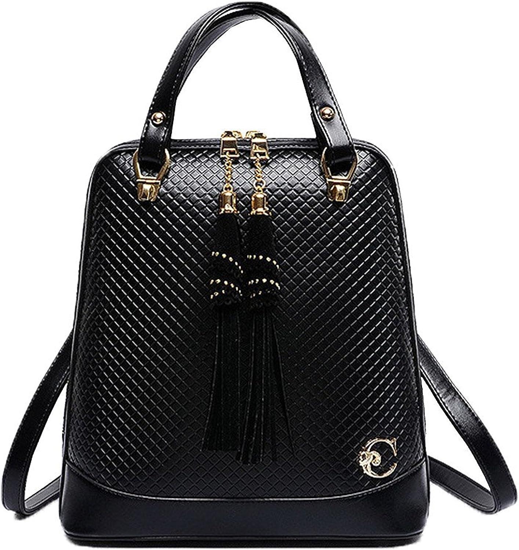 Cheryl Bull Fashion Womens Tassel Diamond Totes Shoulder Bags Backpack Travel Daypack