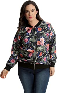 358b753b8 Amazon.com: plus size bomber jacket women