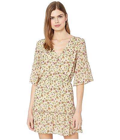 LOST + WANDER Love in Bloom Mini Dress (Ivory Floral) Women