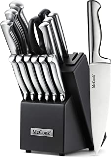 McCook MC21 Knife Sets,15 Pieces German Stainless Steel...