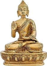 ShalinIndia Indian Religious Items Buddhist Decor Brass Metal Art Thinking Buddha Statue 5 inch 750 Gram