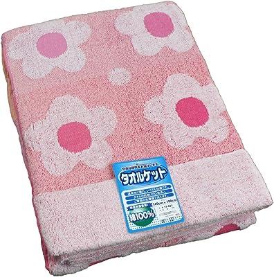 綿100% 快適タオルケット デイジー ピンク シングルサイズ 140x190cm MO-17-021-PI
