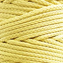 emma kites Kevlar Braided Cord 500~1500lb High Strength Low Stretch Tent Tarp Guyline Suspension for Camping Hiking Backpacking Recreational Marine Outdoors Activities
