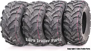 WANDA Set 4 ATV Tires 22x7-11 Front 22x10-9 Rear 6PR for Honda Recon 250