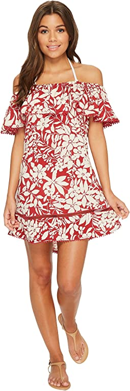 Red Carter - Shanghai Off the Shoulder Dress Cover-Up