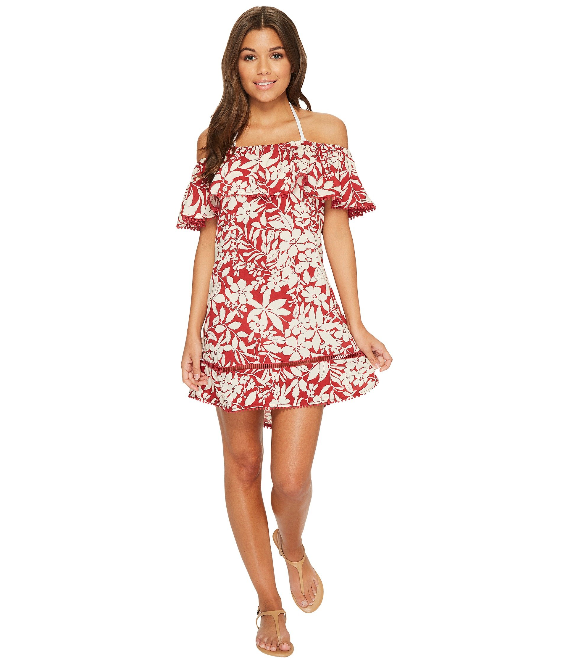 Salida de Baño para Mujer Red Carter Shanghai Off the Shoulder Dress Cover-Up  + Red Carter en VeoyCompro.net