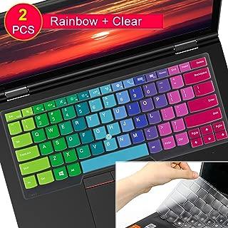 [2Pcs]Keyboard Cover Skin for Lenovo Thinkpad X1 Carbon 5th/6th 2019 2018 2017/ThinkPad X1 Yoga 14