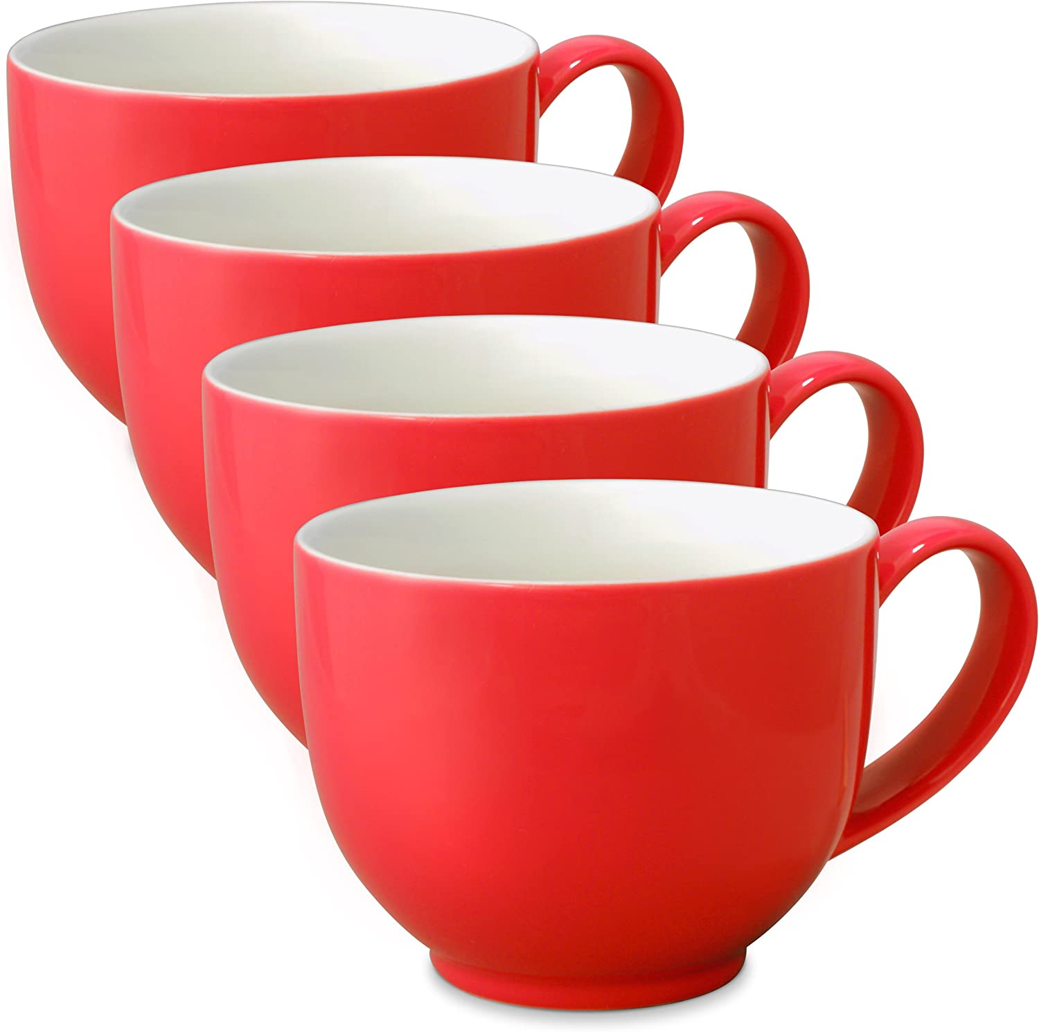 FORLIFE Q Tea Max 52% OFF Cup with Handle Online limited product 10 oz Set 4 Red of