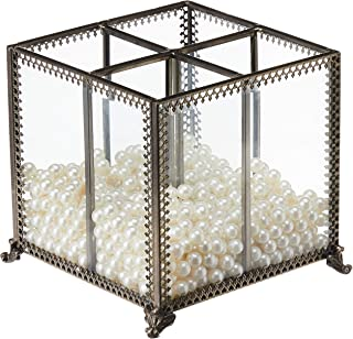Best PuTwo Makeup Organizer Vintage 4 Sections Makeup Brushes Holder Make Up Storage with Free White Pearls Review