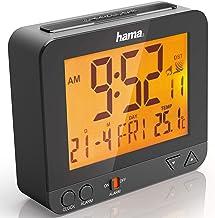 Hama Rc550, Draadloze Wekker, Sensorgestuurde Nachtlichtfunctie, Sluimerfunctie, Temperatuur- En Datumweergave, Digitaal, Zwart