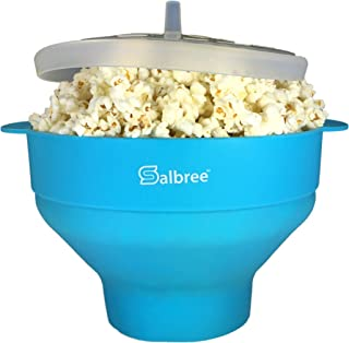 Original Salbree Microwave Popcorn Popper, Silicone Popcorn Maker, Collapsible Bowl BPA Free - 15 Colors Available (Turquoise)