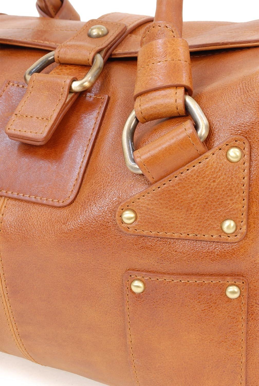 Catwalk Collection Handbags - Cuir Véritable - Sac Porté Main/Sac à Main/Sac porté épaule - Femme - CLAUDIA Tanne
