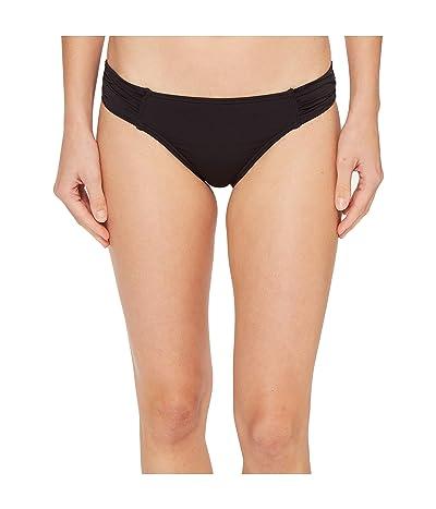 Tommy Bahama Pearl Side-Shirred Hipster Bikini Bottom (Black) Women