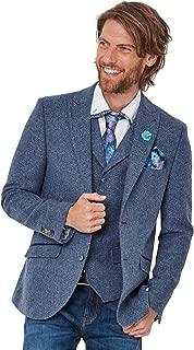 Mens Textured Button Up Smart Suit Blazer
