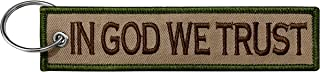 Military in God We Trust Keychain Tag with Key Ring, EDC for Servicemen, Car, Motorcycle