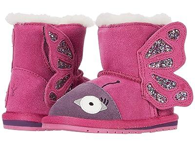 EMU Australia Kids Butterfly Walker (Infant) (Deep Pink) Girl