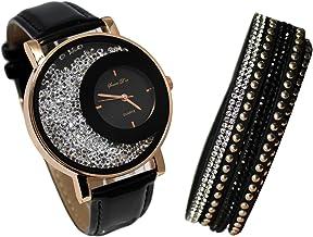 Esprit dauphin montres avec étanche de ceinture en cuir ou