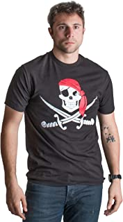 Jolly Roger Pirate Flag | Skull & Crossbones Buccaneer Costume Unisex T-Shirt