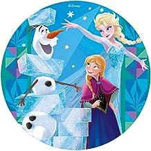 Disney Frozen Elsa, Ana & Olaf Oblea Comestible Para Tartas Redonda 20cm