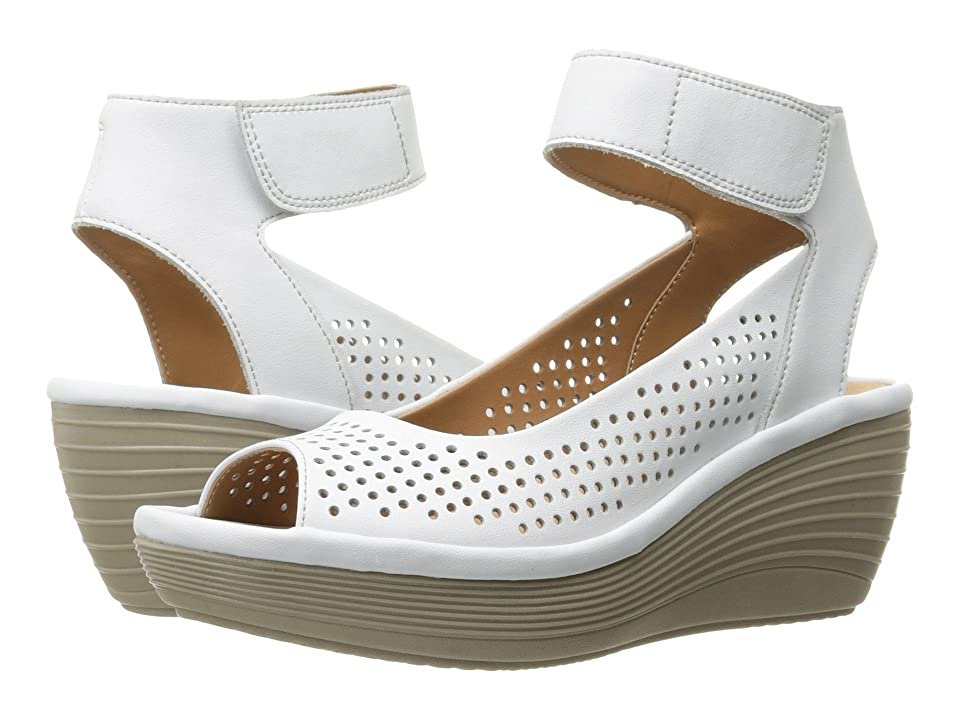 Clarks Reedly Salene (White Leather) Women