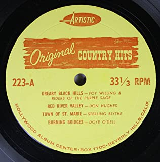 Foy Willing & Riders of the Purple Sage/Don Hughes/Sterling Blythe/Doye O'Dell/Eddie Dean/Texas Jim Robertson/Rex Trailer 45 RPM Dreary Black Hills/Red River Valley/Town of St. Marie/Burning Bridges / Hillbilly Heaven/Lone Prairie/Riding Down the Canyon/Old Rugged Cross
