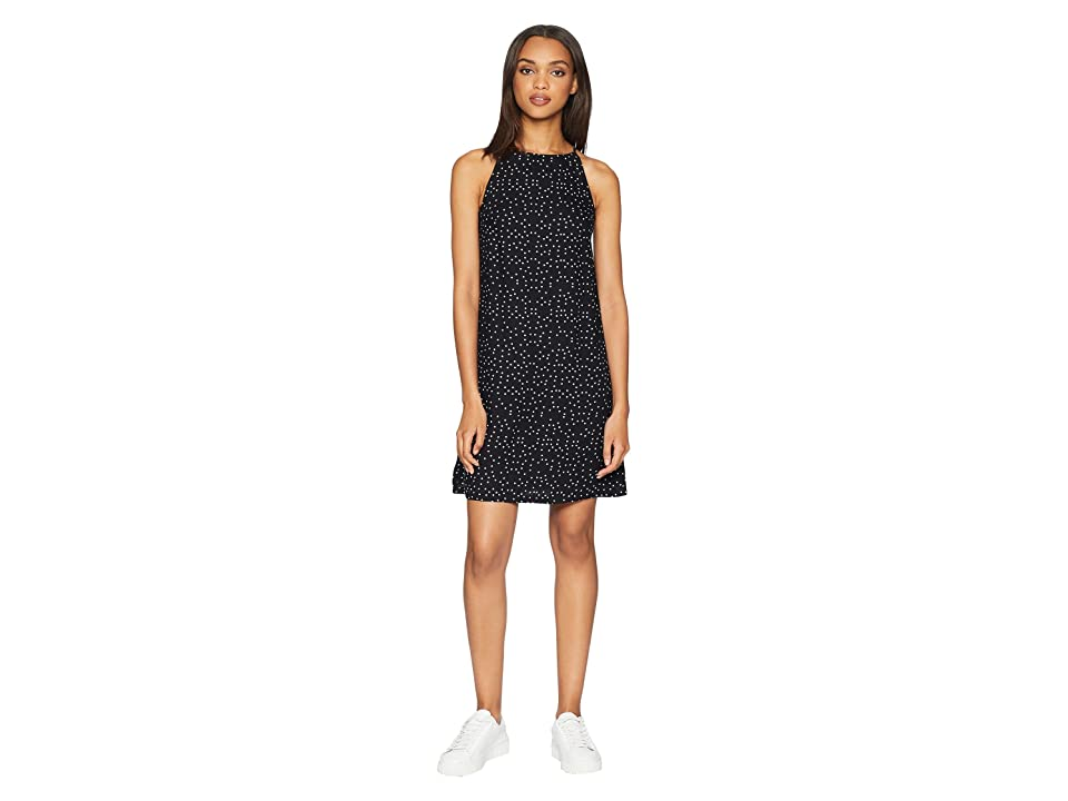 Roxy City Shield Woven Tank Dress (True Black Dots For Days) Women