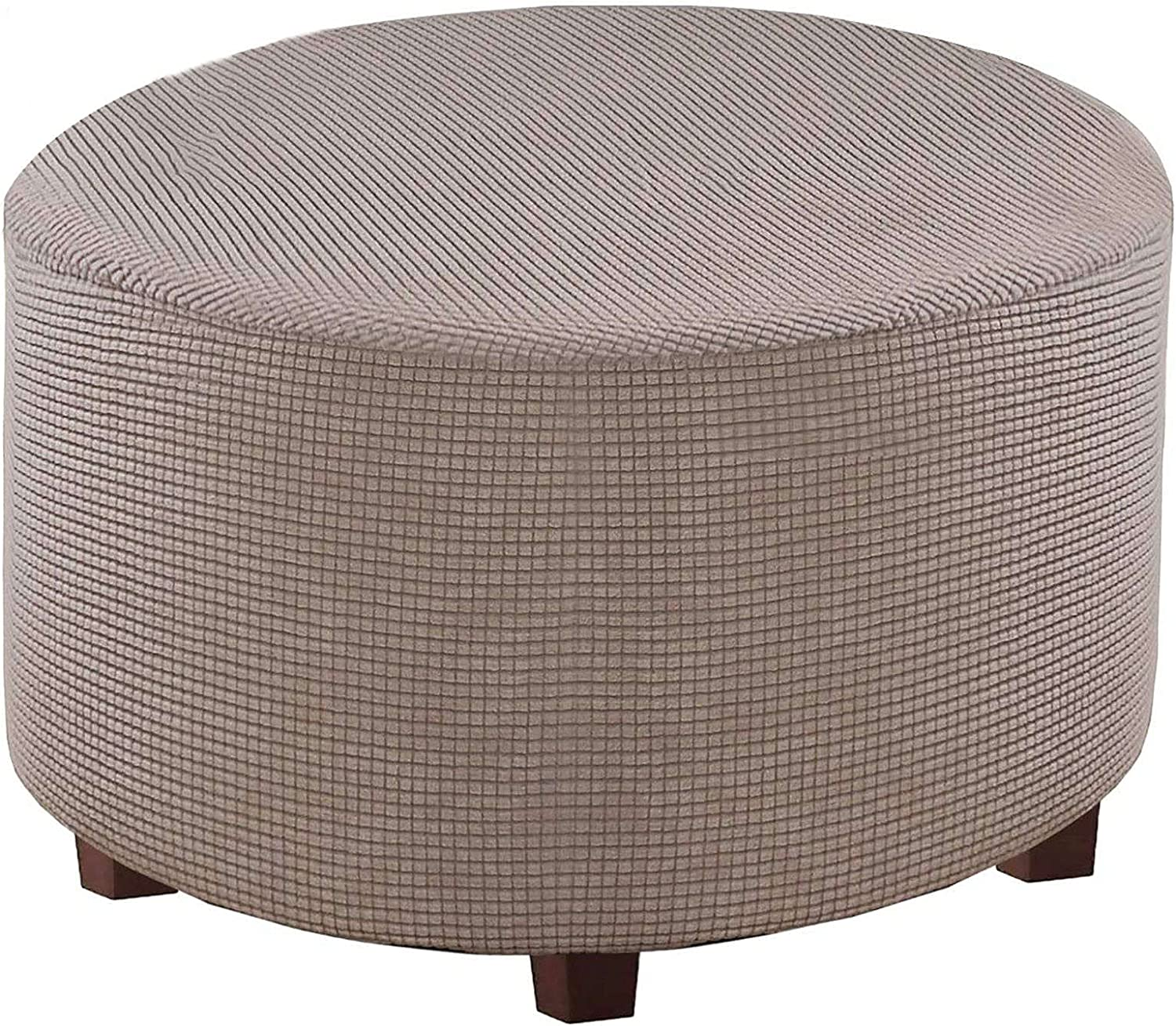 Round Many popular brands Ottoman We OFFer at cheap prices Slipcovers Jacquard Protector wi Stretch Footstool