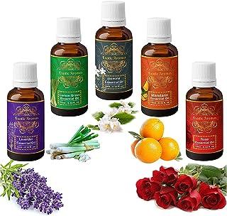 Exotic Aromas Essential Oil - Lavender oil, Lemongrass oil, Jasmine oil, Mandarin oil, Rose oil (Pack of 5)
