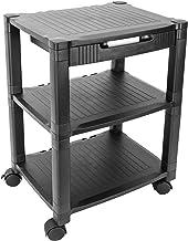 PrimeMatik - Mesa auxiliar para impresora Carro con ruedas con pasacables (AG063)