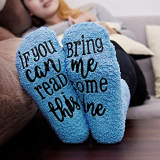 Wine Socks with Cupcake Gift Packaging: Mothers Day Gifts with If You Can Read This Socks Bring Me Some Wine Phrase - Funny Accessory for Her, Present for Wife