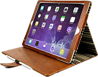 Alston Craig Vintage Genuine Leather Slim-Stand Case Cover for Apple iPad Air 2019 / iPad Pro 10.5 (2017) - Brown