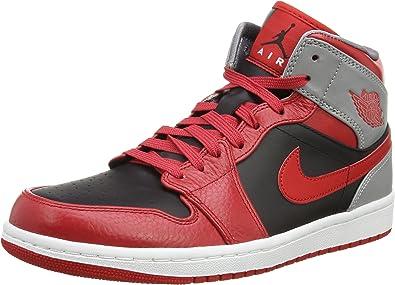Nike - air jordan 1 mid-42 - 8.5 - 554724-603-42 - 8.5 - rouge ...