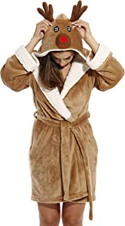 Image of Cute Hooded Reindeer Robe for Women - See More Christmas Robes